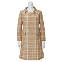 JS ジュンコシマダ チェック柄 八分袖コート