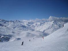 Meribel/Les Menuires Liason.  How's that for snow.