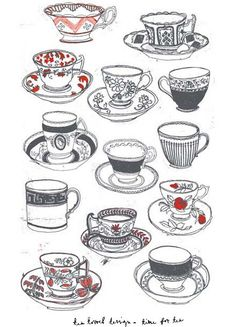 better time for tea towel cups chorlotte farmer  on: http://teawithmarykate.wordpress.com/2012/02/01/something-lovely-to-dry-all-those-vintage-tea-cups-with-beautiful-time-for-tea-tea-towel-by-charlotte-farmer/#