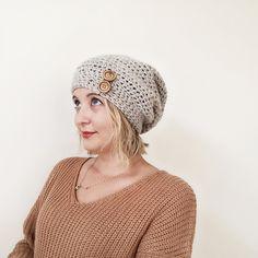 FREE crochet pattern! Slouchy beanie