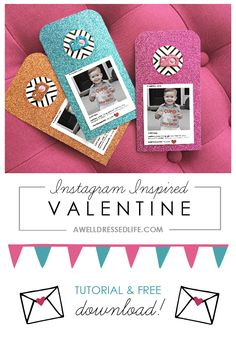 How cute are these IG-inspired Valentines Day Cards?!  Perfectly gender neutral for school parties and sharing with friends!