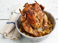 Get Bundt Pan Roast Chicken with Potatoes Recipe from Food Network - Recipes to Cook -