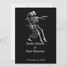 Halloween Wedding Invitations, Funny Wedding Invitations, Custom Invitations, White Envelopes, Paper Texture, Smudging, Special Occasion, Portrait, Cards