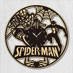 "SofiClock Spiderman Wall Wood Clock 12"", The Best Gift for Decor >>> Be sure to check out this awesome product. (This is an affiliate link) #HomeDcor"