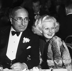 Jean Harlow with Louis B. Mayer