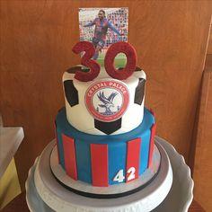 Football Birthday Cake, Football Cakes, 60th Birthday Cakes, Crystal Palace Football, Crystal Palace Fc, Graham Cake, Soccer Cake, Retirement Parties, Cake Ideas
