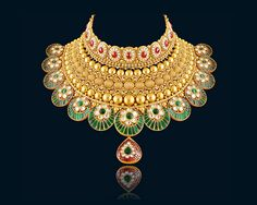 Royal and Exquisite Indian Gold Jewellery. Buy Gold Jewellery Online, Gold Jewellery Design, Handmade Jewellery, Jewellery Shops, Mens Gold Jewelry, Bridal Jewelry, Indian Gold Jewelry, India Jewelry, Enamel