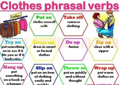 Phrasal verbs: clothes
