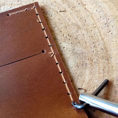 Before you start stitching your leather, make a stitch groove, this will allows the thread to snug in the groove,your leather wallet or lea...