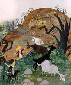 Alice & Martin Provensen #goatvet collects art which feature goats