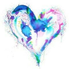 Image result for watercolor heart tattoos