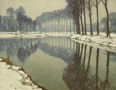 Max CLARENBACH 1880-1952, WINTER AN DER ERFT, Auktion 969 Alte Kunst, Lot 1288