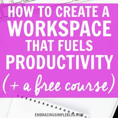 Whether you are self-employed or have a 9-5 office job, these awesome tips are sure to help you create a workspace that fuels productivity!