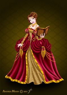 Royal Jewels Dress Edition: Belle by MissMikopete on DeviantArt