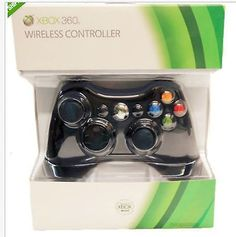 video-gaming: OFFICIAL MICROSOFT XBOX 360 WIRELESS CONTROLLER (GLOSSY BLACK) FREE SHIPPING #Games - OFFICIAL MICROSOFT XBOX 360 WIRELESS CONTROLLER (GLOSSY BLACK) FREE SHIPPING...