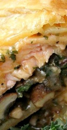 Salmon Wellington-Try spreading Dijon on puff pastry or top of salmon along with roasted garlic. Fish Dishes, Seafood Dishes, Fish And Seafood, Seafood Platter, Salmon Recipes, Fish Recipes, Seafood Recipes, Cooking Recipes, Salmon Wellington Recipe