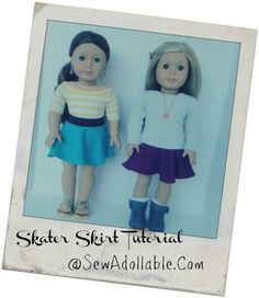 Free Sewing Pattern for 18 Inch Dolls - skater skirt...LAN will love to change out for her skater doll!!