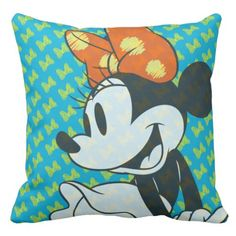 Fashionable Minnie | Shy Pose Throw Pillow. ** Check out more at the photo link