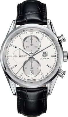TAG Heuer Watch Carrera Chronograph #bezel-fixed #bracelet-strap-alligator #brand-tag-heuer #case-material-steel #case-width-41mm #chronograph-yes #date-yes #delivery-timescale-call-us #dial-colour-silver #gender-mens #luxury #movement-automatic #official-stockist-for-tag-heuer-watches #packaging-tag-heuer-watch-packaging #sku-tag-073 #subcat-carrera #supplier-model-no-car2111-fc6266 #warranty-tag-heuer-official-2-year-guarantee #water-resistant-100m