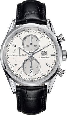 TAG Heuer Watch Carrera Chronograph #bezel-fixed #bracelet-strap-alligator…                                                                                                                                                                                 Más