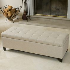 Upholstered Storage Bench Nailhead Living Room Furniture Seating Ottoman  Modern | Upholstered Storage Bench, Storage Benches And Bench