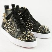 Christian Louboutin Black Spacer Leather Sneakers http://www.packetsquare.com/christian-louboutin-sneakers