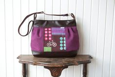 Large Pleated Zippered Cross Body Bag in Echino by bluecalla Echino, Cross Body, Drawstring Backpack, Diaper Bag, Crossbody Bag, Zipper, Trending Outfits, Unique Jewelry, Handmade Gifts