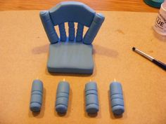 how to gumpaste chair
