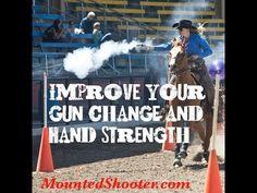 Gun change drill pt. 2 Mounted shooting. Cowboy mounted shooting