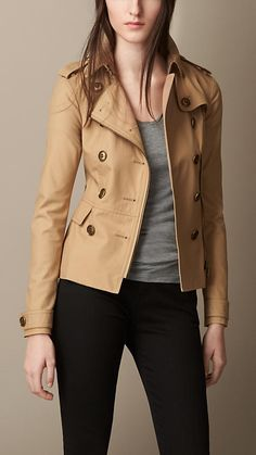 Burberry - STRETCH COTTON TRENCH JACKET $595
