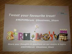 This will be found within your Brum Yum Yum snack boxes at MIPIM2014. 'Tweet your fave treat! to @business_bham #MIPIMbrum