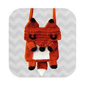 Ravelry: Amazing Kawaii Fox crossbody bag - PDF crochet pattern pattern by Hello Happy