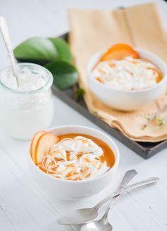 Persimmon Fool Pudding: Pureed fruit and cream simply made.