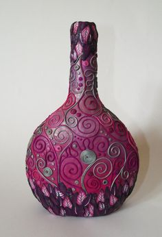 Polymer Pink Decorative Bottle