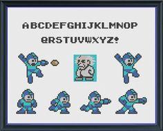Mega Man Sampler - Create Your Own Custom Mega Man Cross Stitch Pattern