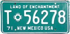 1971 New Mexico Trailer License Plate
