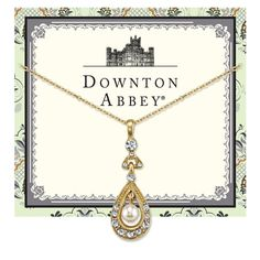 Downton Abbey® Gold-Tone Crystal and Simulated Pearl Pendant Necklace