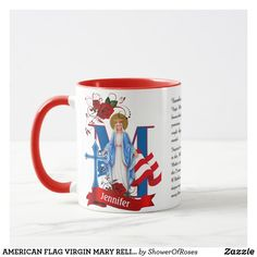 Memorare Prayer, Mama Mary, Catholic Gifts, Blessed Virgin Mary, Blessed Mother, Roman Catholic, Tea Mugs, American Flag, Photo Mugs