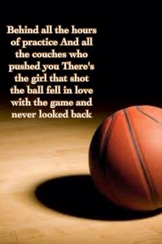 ..There's the girl that shot the ball, fell in love with the game, and never looked back...<3