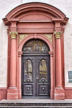 Open stairs entryway entrance ideas for 2019 Cool Doors, The Doors, Unique Doors, Windows And Doors, Grand Entrance, Entrance Doors, Doorway, Door Knockers, Door Knobs