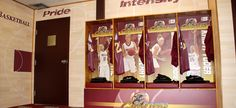 Walsh University Women's Basketball Locker Room Enhancement. Custom designed & printed wallcovering / wall mural. Player specific ocker sign inserts and graphics that cover the entire locker.