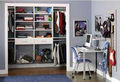 closet organization- boys