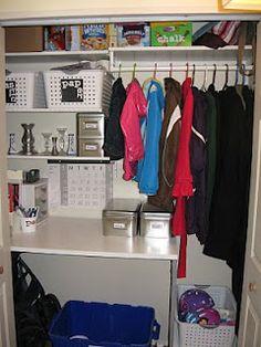 Entry way closet