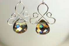 Swarovski Earrings Wire Wrapped Jewelry by JessicaLuuJewelry, $30.00