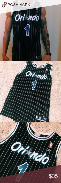 😱🔥 Vintage Orlando Magic Tracy McGrady Jersey Size :Medium tag : Reebok Made in Korea Material: 💯 Polyester  Prestine Condition!! Reebok Shirts Tank Tops