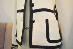 Vintage Chanel Style Black and White Trimmed Jacket by ShopMadeNew, $55.00