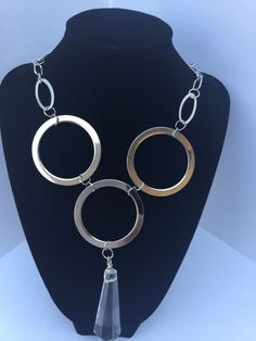 Sliver Ring Handmade Statement Necklace/Free Shipping