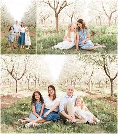 Flowers and blossoms make for the perfect backdrop for beautiful family pictures! Check out this entire collection of family photoshoots for all of the inspiration you need! Family Picture Poses, Family Photo Outfits, Family Photo Sessions, Family Posing, Family Pictures, Professional Photographer, Family Photographer, Spring Photos, Utah Photographers