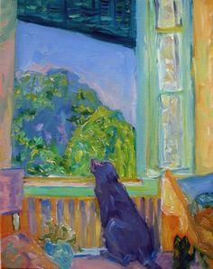 Pierre Bonnard Le Chat a la Fenetre  (le chien? rw)