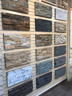 Exterior Wall Tiles, Exterior Wall Design, Brick Design, 3d Wandplatten, Stacked Stone Panels, Front Wall Design, Faux Stone Walls, House Gate Design, Stone Cladding
